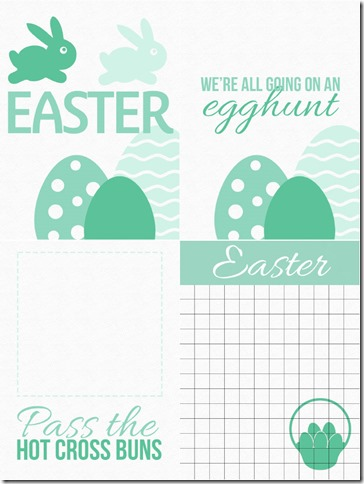 Green Easter Cards